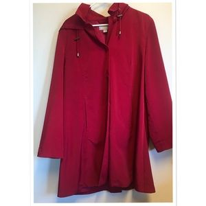 Nordstrom Long Trench Coat with Buttons Size Large